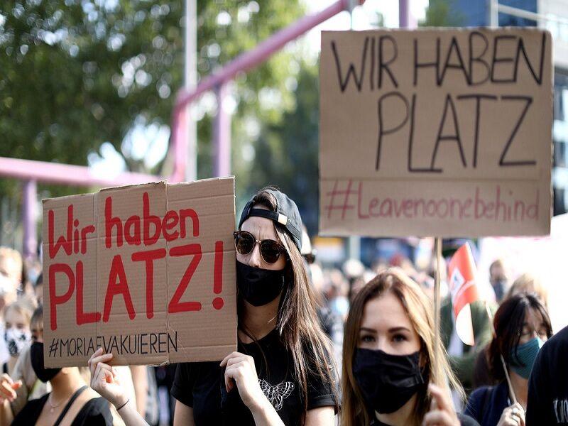تظاهرات برلین در حمایت از پناهجویان در یونان
