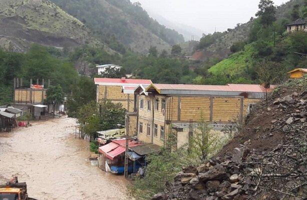 مرگ 2 نفر در سیل تالش گیلان