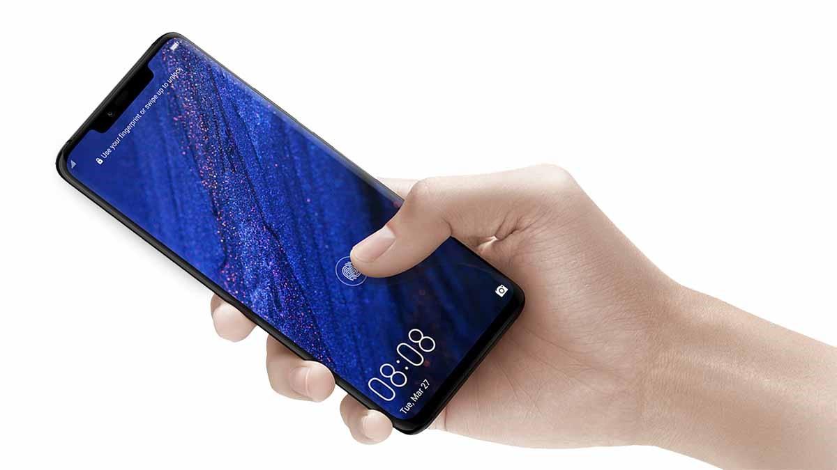 سنسور انگشت هوآوی در تمام سطح صفحهنمایش