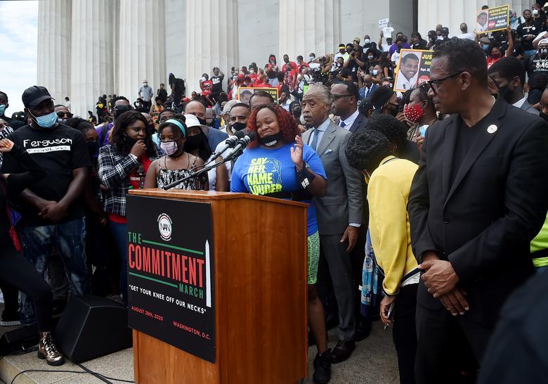 تظاهرات آمریکا واشنگتن ضد نژادپرستی
