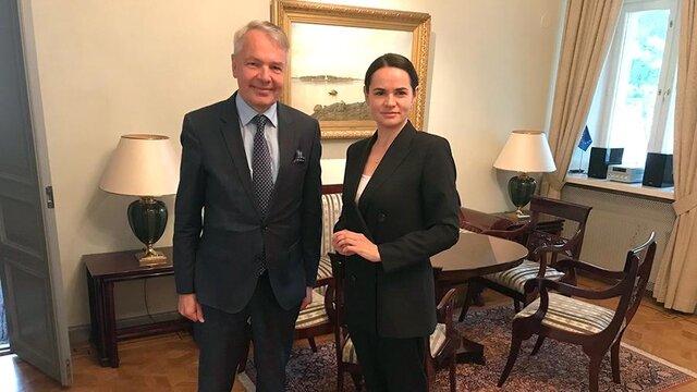 ملاقات وزیر خارجه فنلاند با رهبر اپوزیسیون بلاروس در لیتوانی