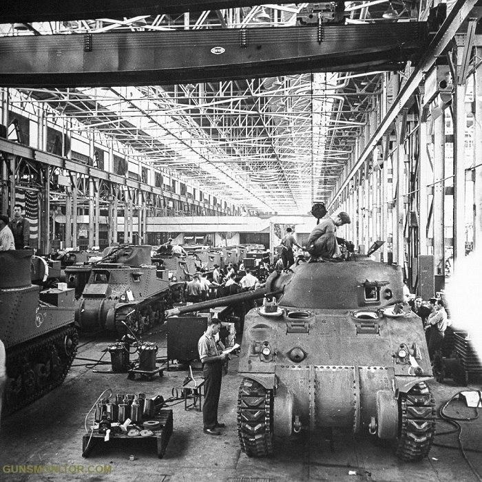 کارخانه های تانک در جنگ جهانی دوم (+عکس)