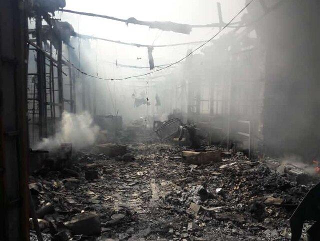 آتشسوزی بازارچه ساحلی بندر دیلم