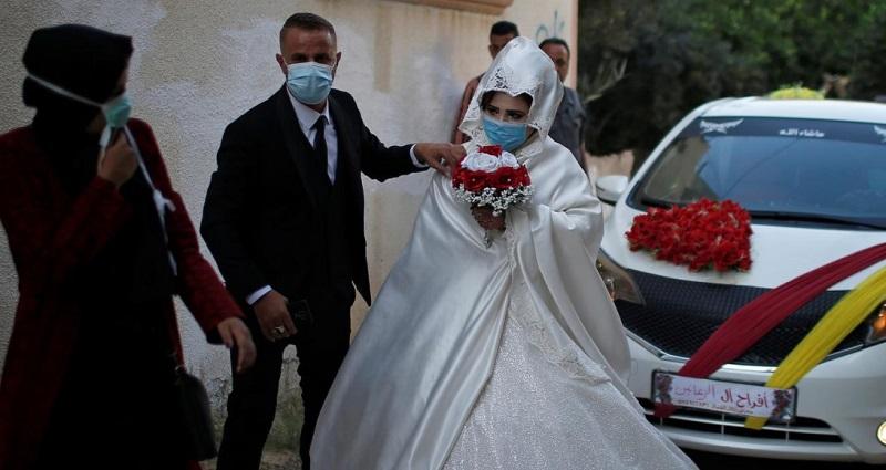 عروسی در غزه در دوران کرونایی