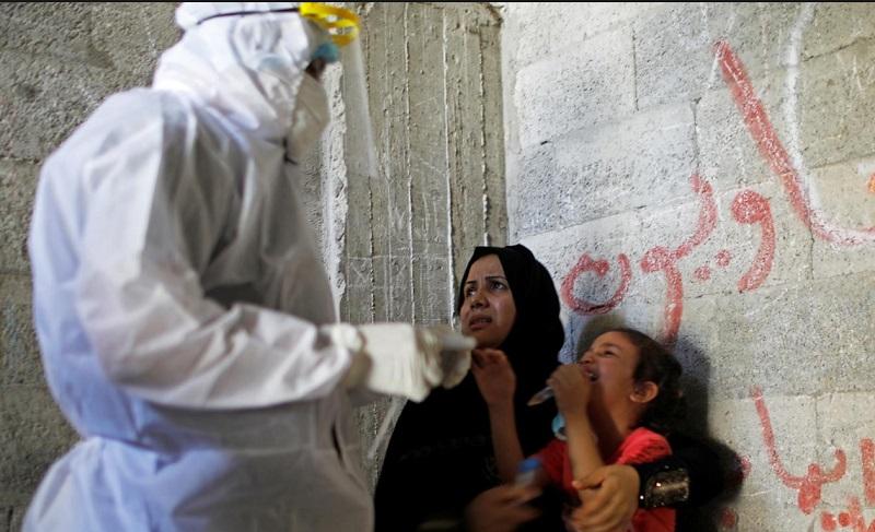ماسک در نوار غزه