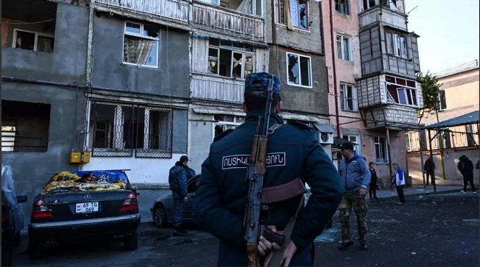 حمله ارمنستان به دومین شهر بزرگ آذربایجان/ بمباران پایتخت قرهباغ توسط آذربایجان/ الهام علیاف: 7 روستا را از اشغال ارمنستان آزاد کردیم