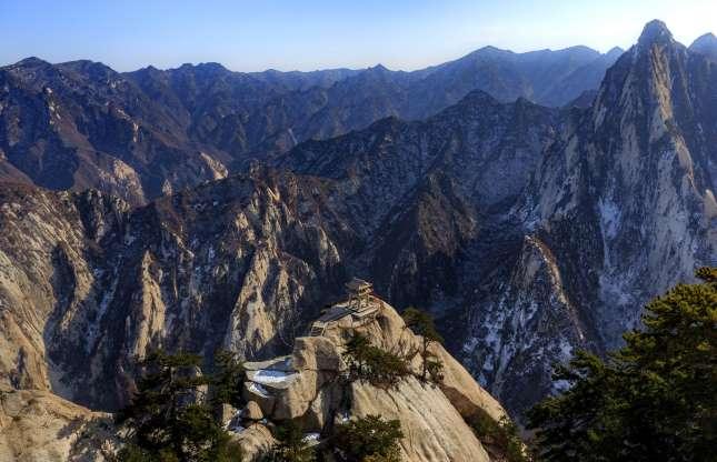 کوه هوآ، کوههای شین در چین