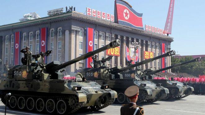 رژه کره شمالی 2018
