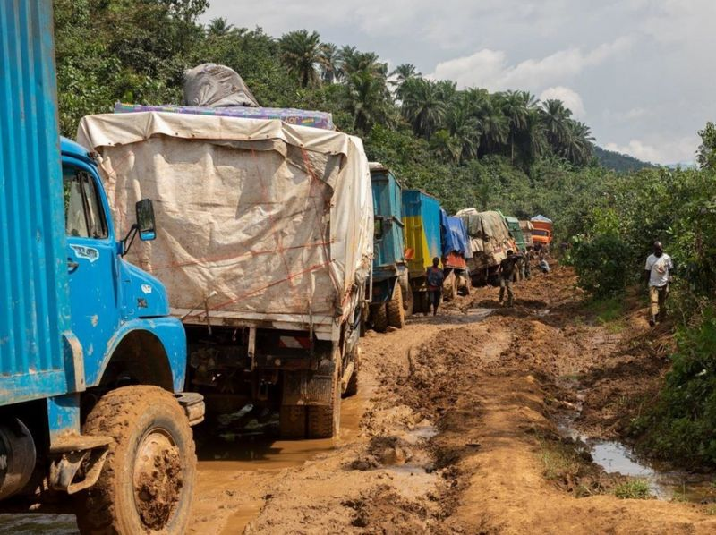 مشکلات  رفت و آمد در کامیون ها در کنگو