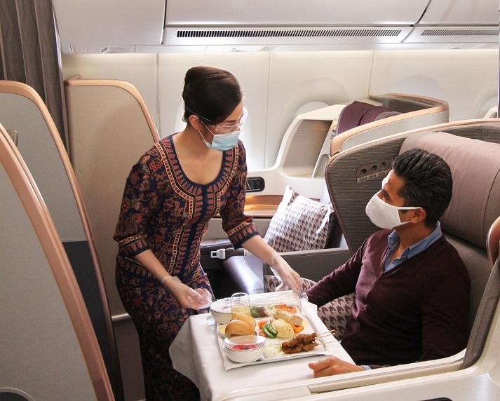 شام 500 دلاری در بزرگترین هواپیمای مسافربری جهان (+عکس)