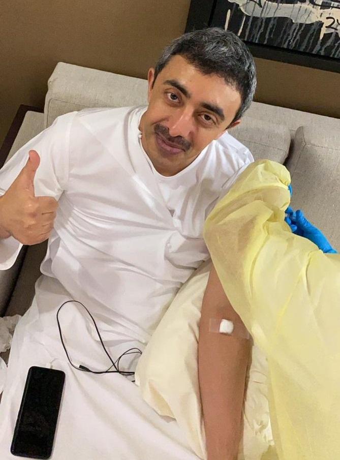 وزیر خارجه امارات واکسن کرونا