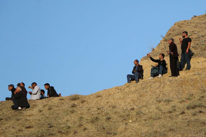 جنگ قره باغ تماشاچیان ایرانی در مرز