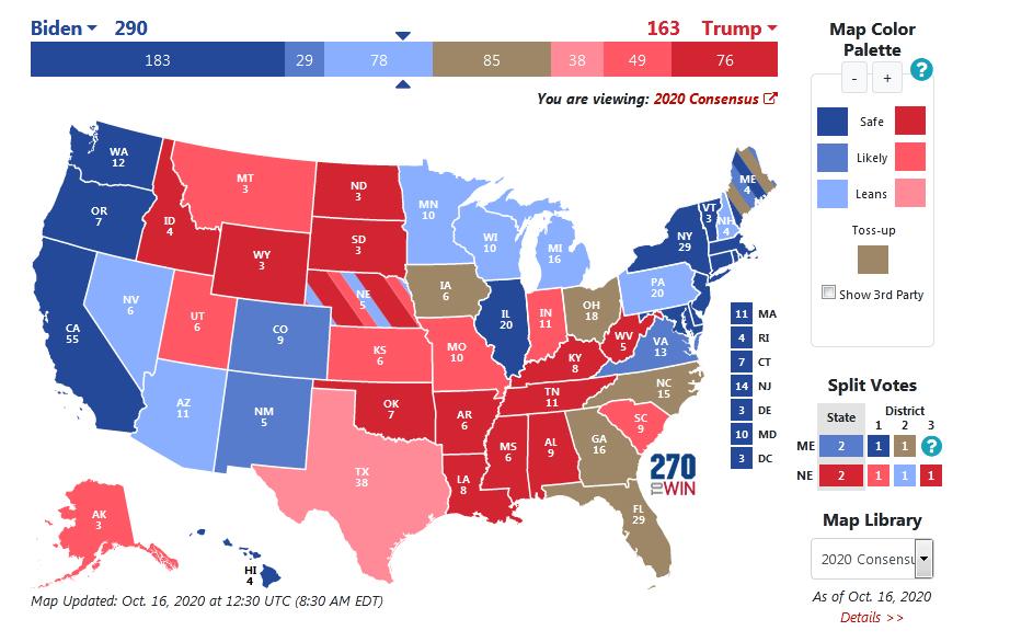 انتخابات آمریکا: ترامپ آرای 6 ایالت مهم را از دست داد