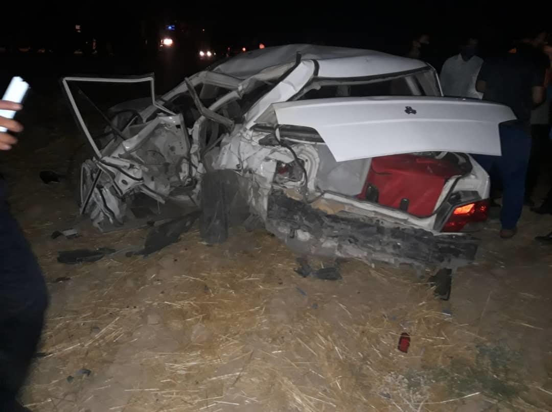 3 کشته بر اثر تصادف زانتیا و پراید در جاده کهگیلویه و بویراحمد