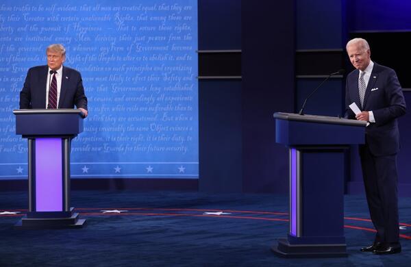 نظرسنجی سیانان: بایدن برنده مناظره اول با ترامپ