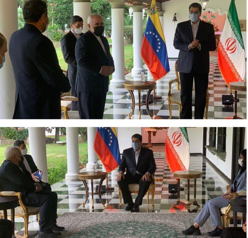 دیدار ظریف با رئیس جمهور ونزوئلا (عکس)