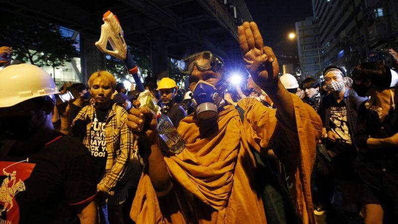 معترضان تایلند رنگ