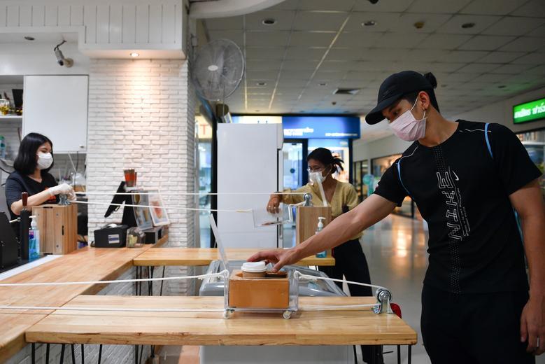 مدل جدید تحویل قهوه در بانکوک