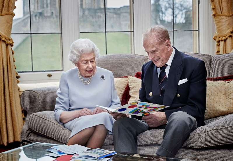 هفتادوسومین سالگرد ازدواج ملکه بریتانیا در قرنطینه خانگی(+عکس)