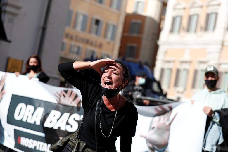 اعتراضات ضد قوانین کرونایی در اروپا