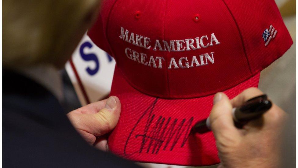 کلاه انتخاباتی ترامپ