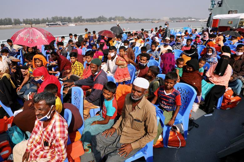 انتقال مسلمانان روهینگیا به جزیره