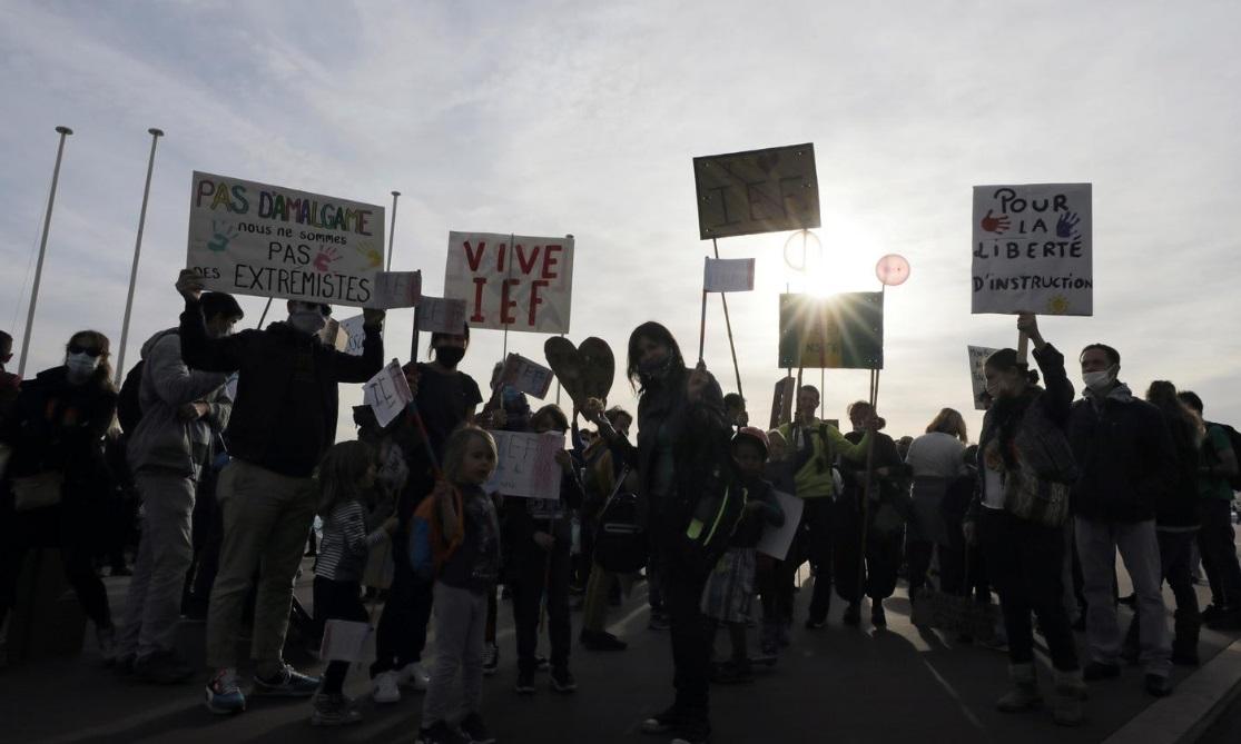 تظاهرات در شهر نیس فرانسه