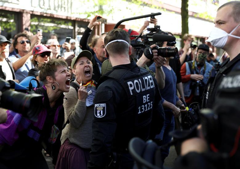 اعتراض به قوانین قرنطینه در آلمان