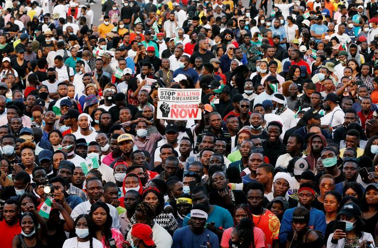 تظاهرات به خشونت پلیس در لاگوس نیجریه
