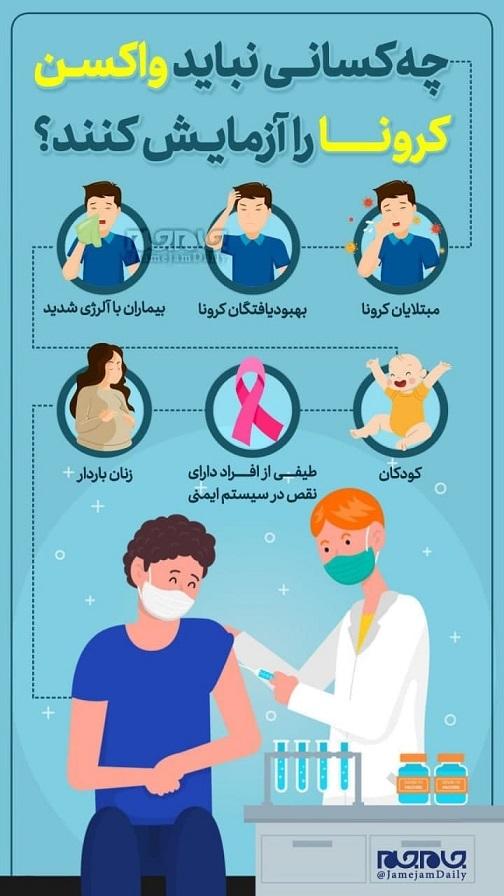 چه کسانی نباید واکسن کرونا را آزمایش کنند؟