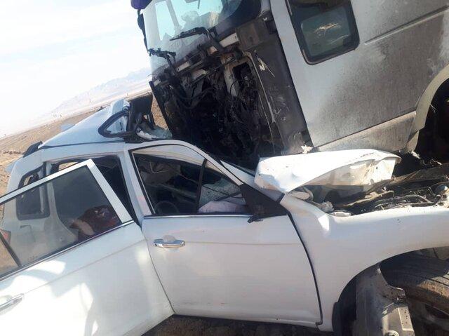 2 کشته در تصادف لیفان - تریلر در یزد  (+عکس)