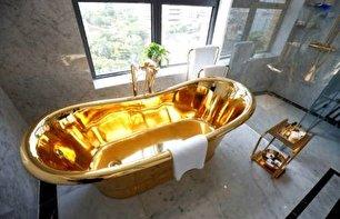 اولین هتل طلایی جهان؛ توالت و دوش حمام از طلای 24 عیار! (+عکس)