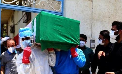 تشییع و خاکسپاری پیکر یک مدافع سلامت در مازندران