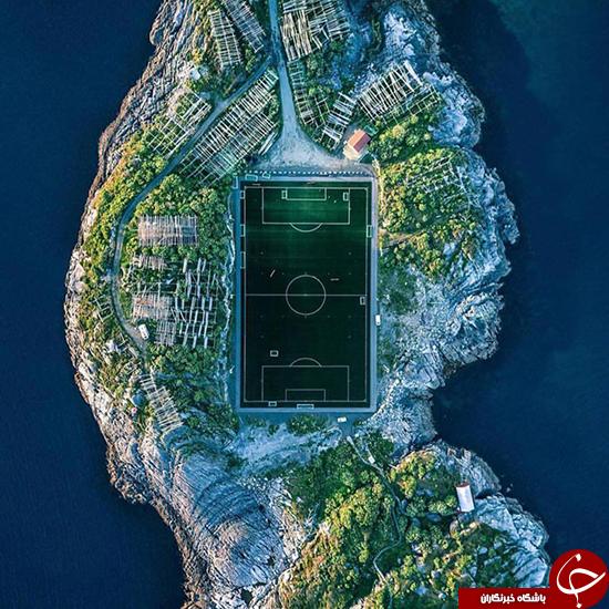 عکسی زیبا از جزیره فوتبال در نروژ