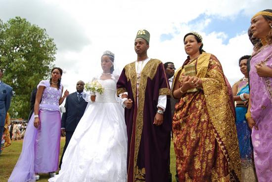 رسم عجیب عروسی در کنگو