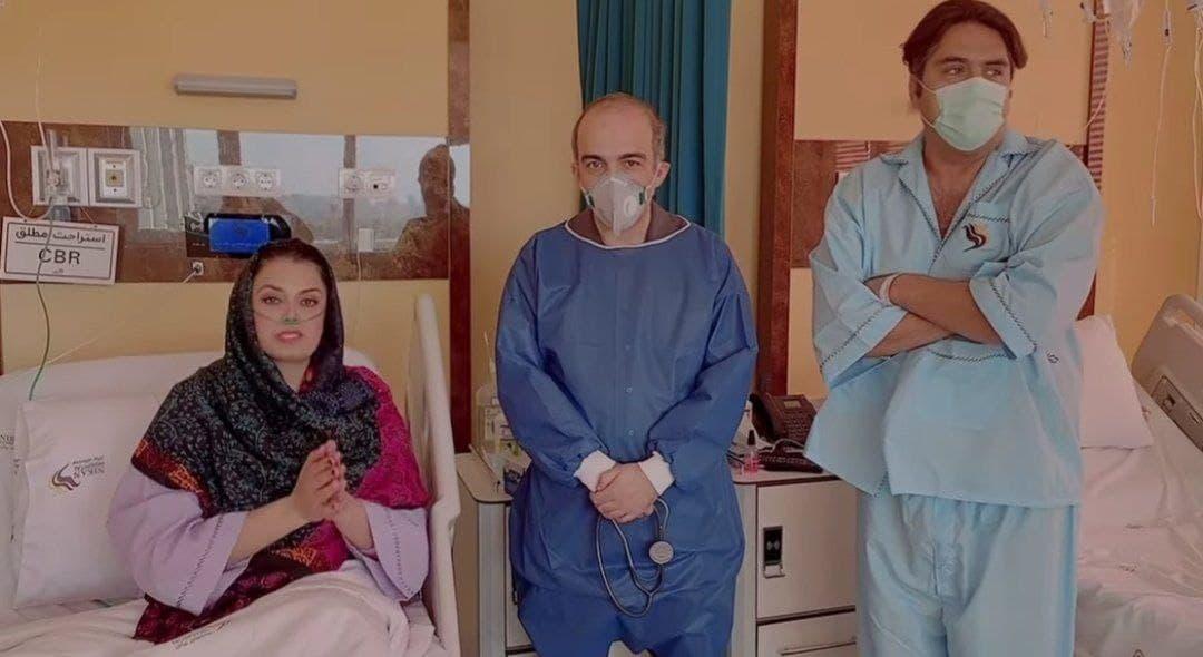مجری معروف و همسرش در بیمارستان بستری شدند (+عکس)