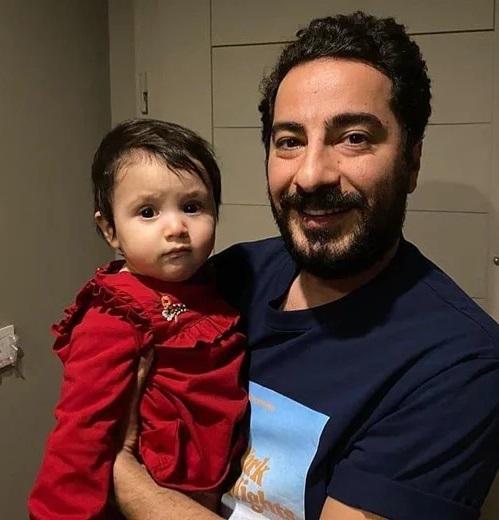 نوید محمدزاده به همراه دختر مهران غفوریان (عکس)