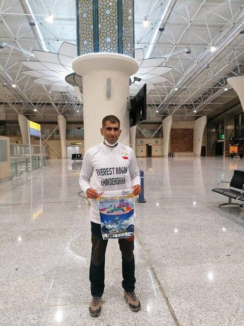 یک کوهنورد ایرانی در راه فتح اورست