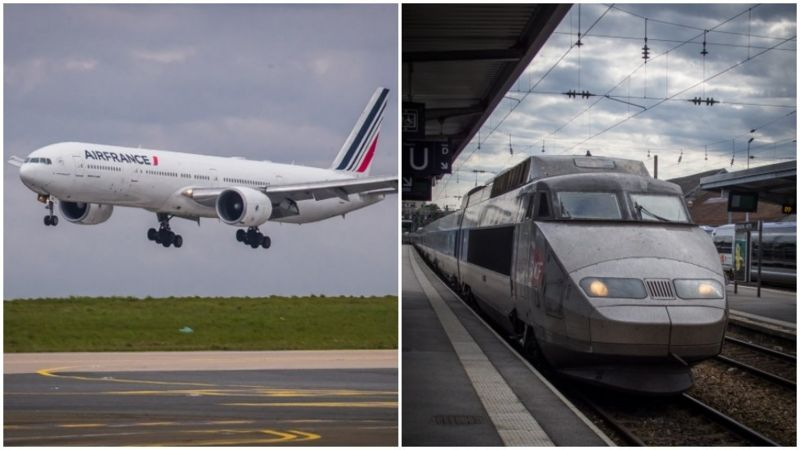 فرانسه قطار هواپیما