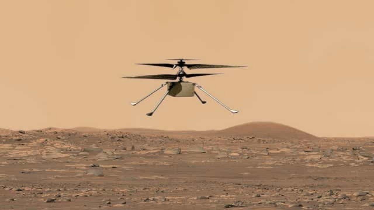 """پرواز تاریخی بالگرد """"نبوغ"""" در مریخ انجام شد"""