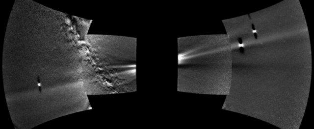 منظره حلقه گرد و غبار در مدار زهره