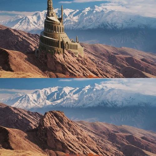 تصویر بازسازیشده از دژ تاریخی الموت