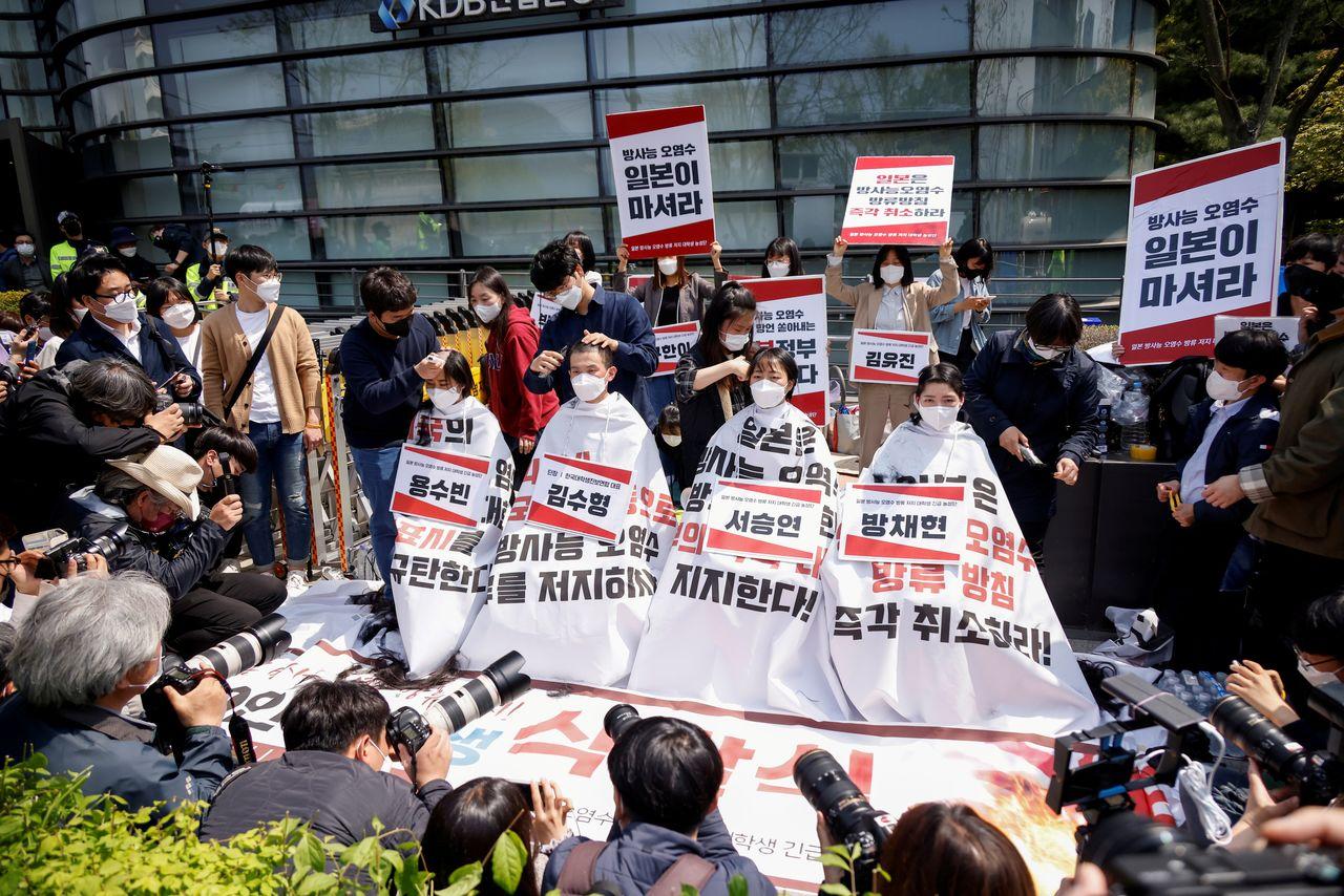 تراشیدن موی سر شیوه اعتراضی کره جنوبی