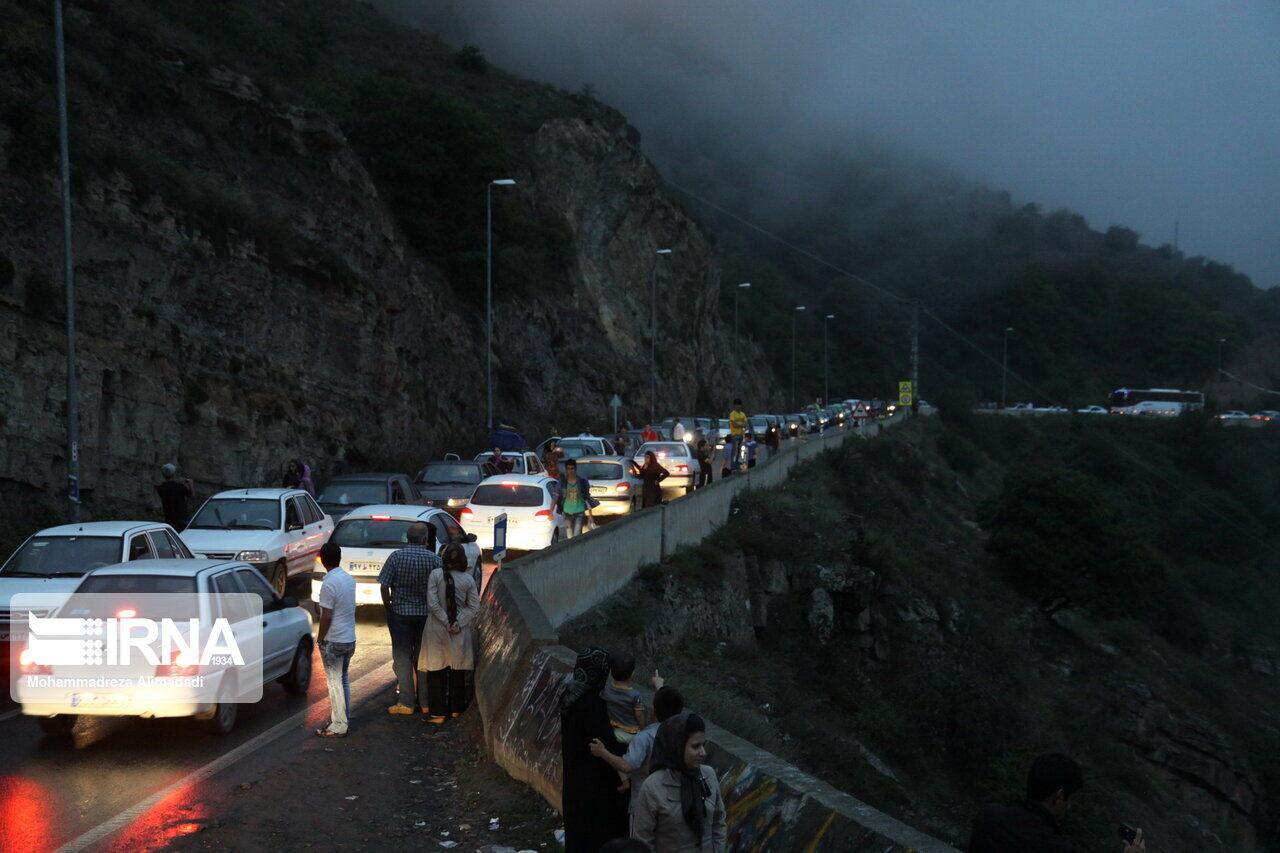 ترافیک سنگین در جاده فیروزکوه و چند آزادراه درون استان تهران
