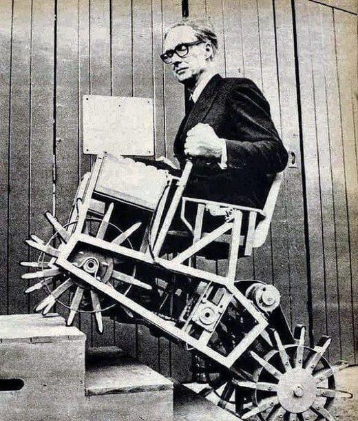 ویلچر پیشرفته سال 1964 میلادی! (عکس)