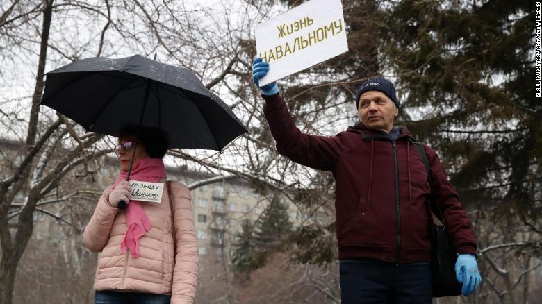 تظاهرات و بازداشت حامیان ناوالنی در روسیه (+عکس)