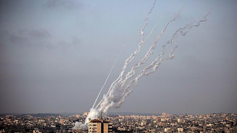 درگیریهای بیتالمقدس/ حملات راکتی حماس به خاک اسرائیل