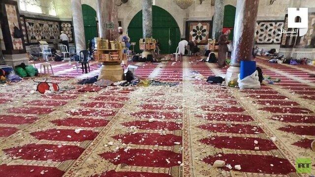 آرامش نسبی در مسجدالاقصی بعد از یک روز درگیری شدید