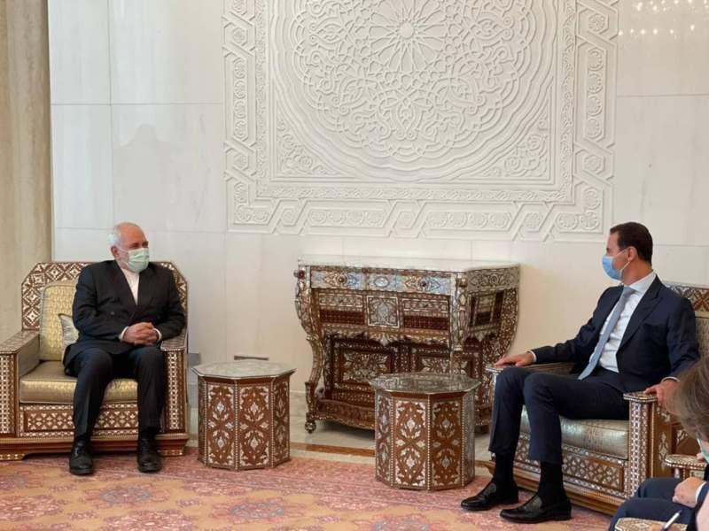 دیدار ظریف با بشار اسد (عکس)