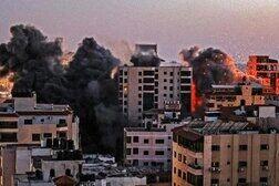 حمله موشکی اسرائیل به مرکز غزه
